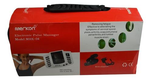 Electroestimulador Tens + 4 Parches + 2 Sandalias Calidad