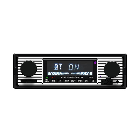 Bt Vintage Rádio Mp3 Player Estéreo Usb Aux Clássico Carro