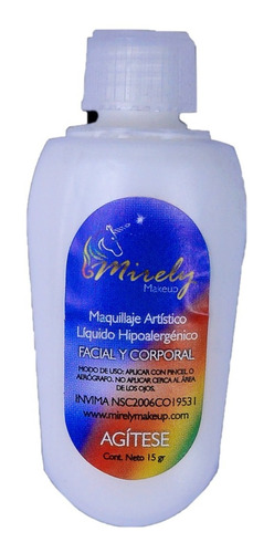 Pintucaritas Liquida A Prueba De Agua Y - g a $467
