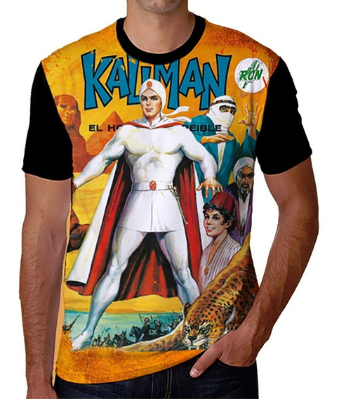 Camiseta Del Héroe De Las Historietas Mexicanas Kaliman