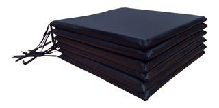 Almohadones Para Sillas Ecocuero Cubresillas Pack X6 40x40