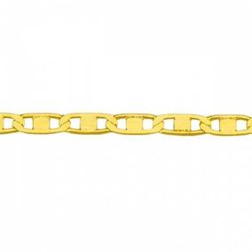 Corrente Em Ouro 18k Piastrine De 1,3mm Com 60cm