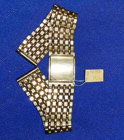 Ouro Amarelo 75,2g Pulseira De Relógio 19,3cm Elos Tijolinho