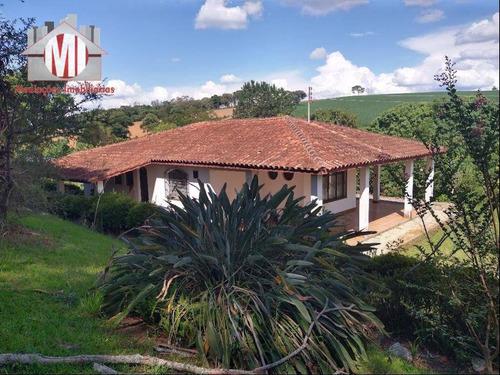 Imagem 1 de 30 de Linda Chácara Com 3 Dormitórios, Piscina, Córrego, Pomar, Ótimo Bairro, À Venda, 12000 M² Por R$ 800.000 - Zona Rural - Pinhalzinho/sp - Ch0833