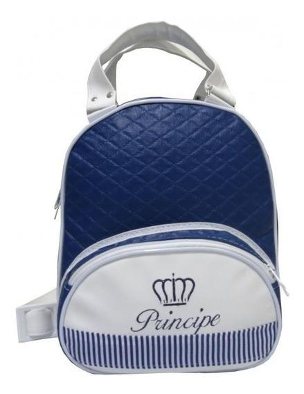 Mochila Escolar Infantil Personalizada G Menino Azul Marinho