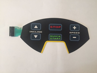 Teclado De Membrana Para Esteira Olympikus Tc 40e/ Tp 400