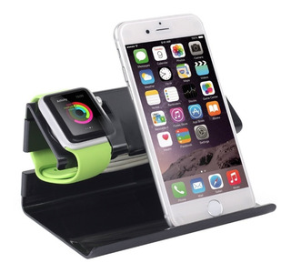 Soporte Base Carga Apple Reloj Watch 38 42mm + iPhone 5 6 8