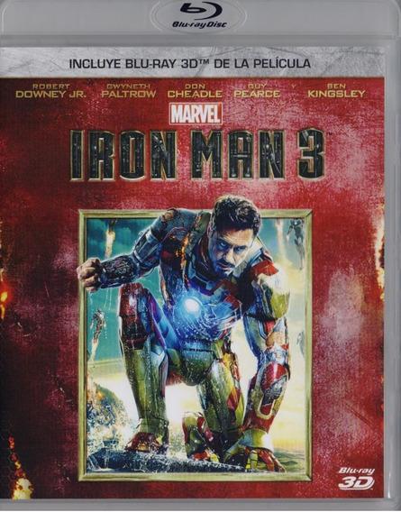 Iron Man 3 Tres Marvel Pelicula Blu-ray 3d