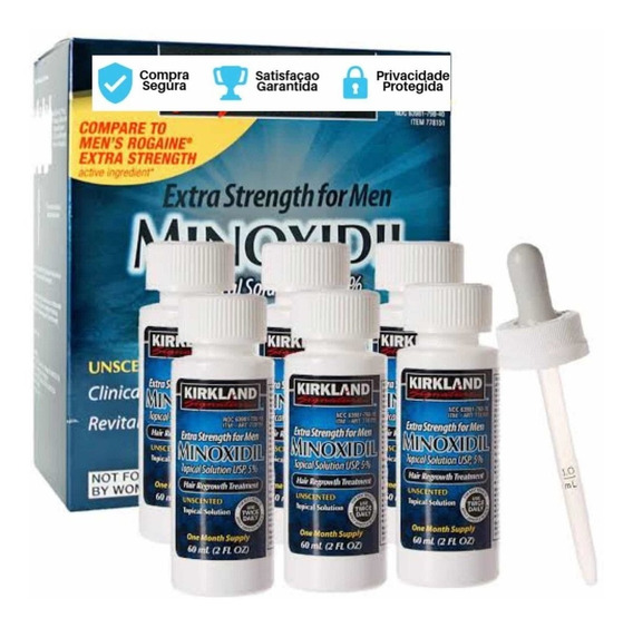 Minoxidil Kirkland 5% P/ 6 Meses - Crescimento Barba/cabelo
