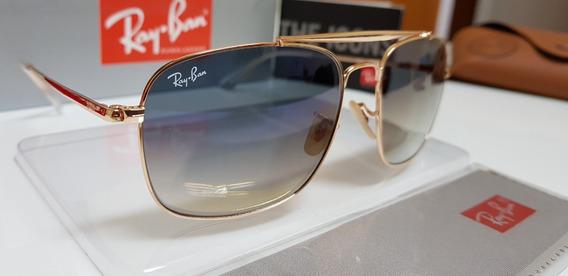 Óculos De Sol Ray-ban- The Colonel Rb3560 Azul Degradê.
