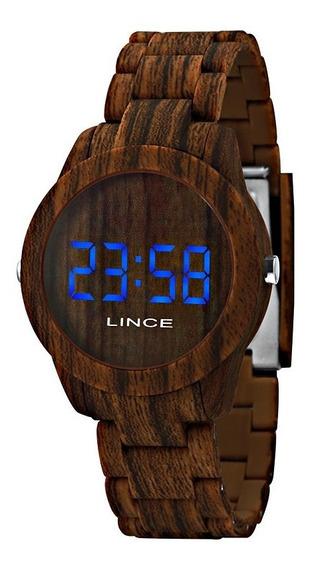 Relogio Lince Unissex Mdp4616p Dxnx Digital Amadeirado Led