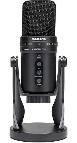 Microfono Profesional Usb Samson G-track Pro Con Interfaz D