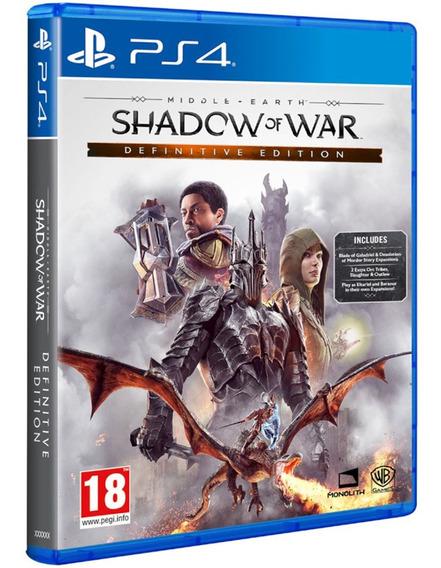 Jogo Sombras Da Guerra Shadow Of War Ps4 Disco Fisico Cd Original Lacrado Dublado Promoção