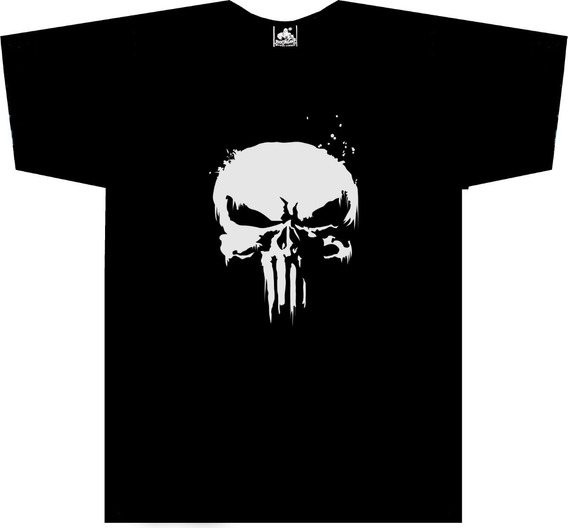 Camiseta Manga Larga de Hombre Punisher Castigador Comic 001