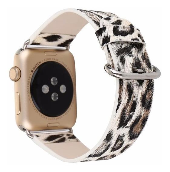 Pulseira Apple Watch 38mm 42mm Tigrada Feminina 38 42 Onça