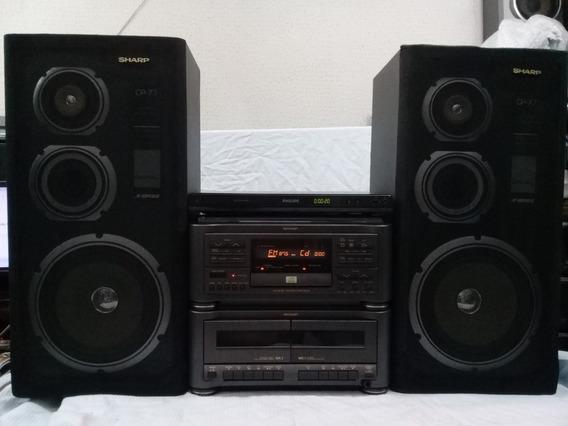 4x1 Quatro Em Um Sharp Cms-r70cd Dvd Philips Dvp3550kmx/78