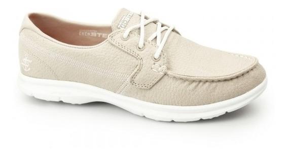 Tênis Skechers Go Step - Boat Shoe Bege