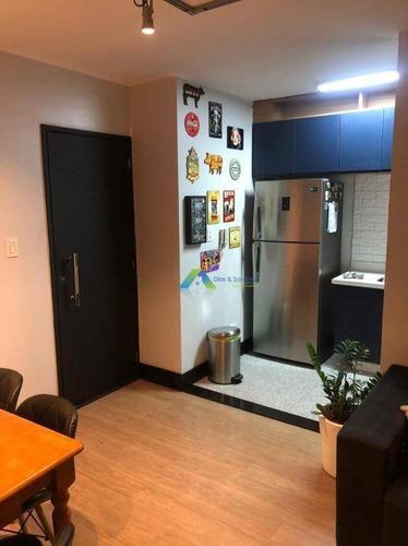 Apartamento Designer Moderno Todo Reformado 2 Dormitórios, 1 Vaga, Lazer Completo No Centro Da Cidade De Diadema Ótima Localização E Valor. - Ap5230