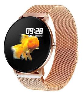 Relógio Smartwatch K9 Pro Senbono Esportes Cor Dourado