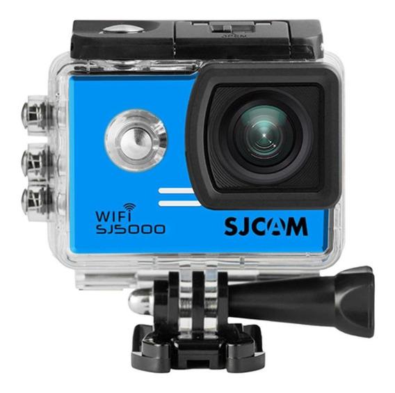 Câmera De Ação Full Hd Wifi 4k Sjcam Sj5000 Azul Original