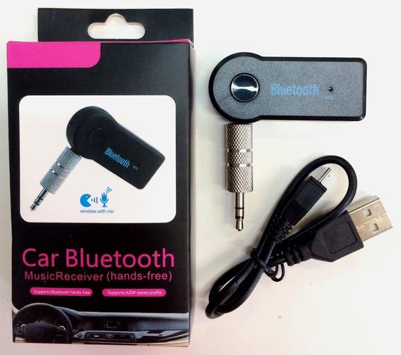 Kit 10 Adaptador P2 Bluetooth Som Wireless Pra Carro Atacado