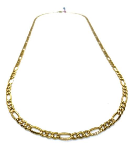 Cadena De Oro 10k Tejido Tipo Cartier 3x1