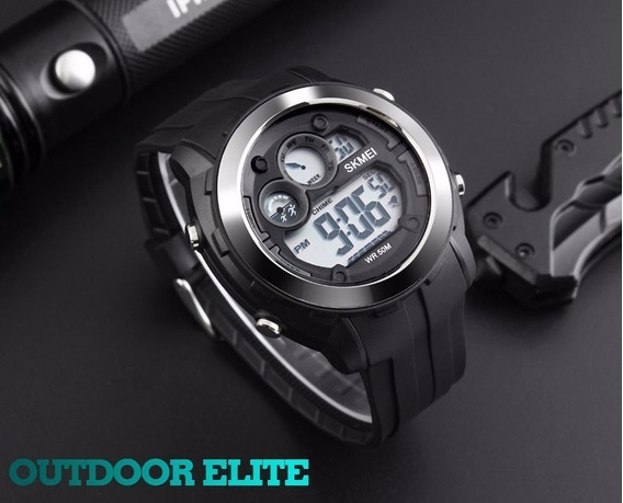 Relógio Skmei 1234 Original - Frete Grátis - Preto - Sport Series Tático Militar Outdoor - Super Promoção