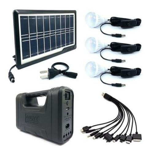 Kit Panel Solar Reflector Led Portátil Recargable 3bombillos