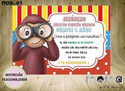 Invitaciones Imprimibles Y Digitales - Jorge El Curioso