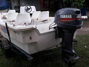 Lancha Trucker Pescadora Con Yamaha 40hp