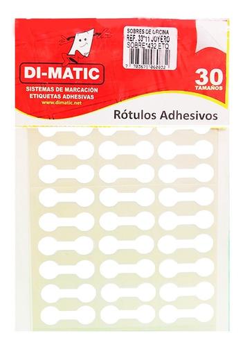Imagen 1 de 4 de Rotulo Adhesivo Joyero Blanco Ref 33x11 Dimatic.