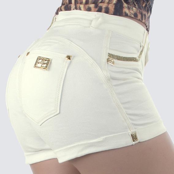 Short Pit Bull Jeans Cintura Alta (liquidação) 28885