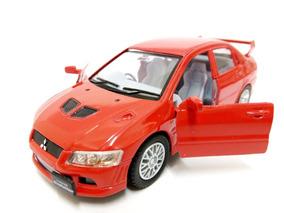 Miniatura Mitsubishi Lancer Evolution Vii Vermelho 1:36 Kins