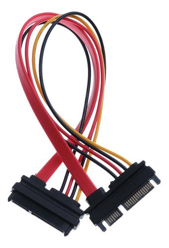 Imagen 1 de 4 de Cable De Extensión Datos Sata M / F 22p 7 + 15pin