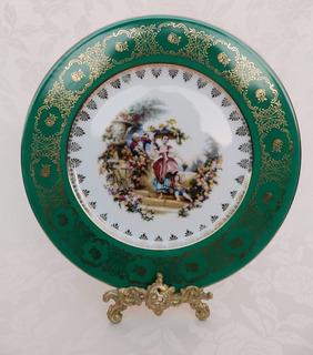 Plato Decorativo En Porcelana De Limoges Pintado A Mano