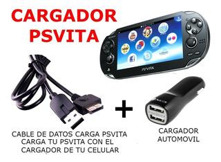 Cargador Psvita Kit Cable Data Carga + Cargdor Auto