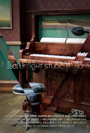 8dio 1901 Upright Studio Piano Versão Completa