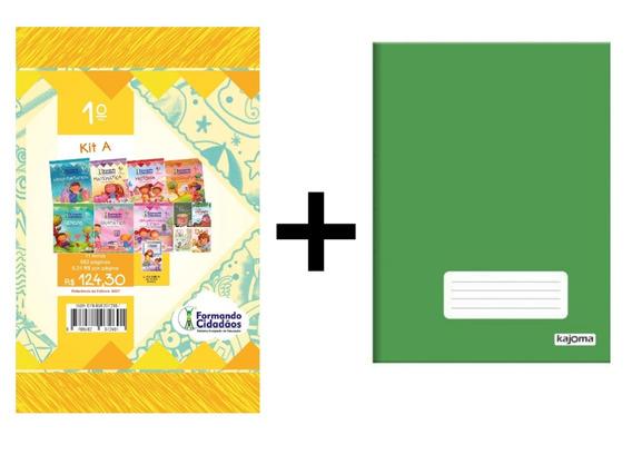 Livro Formando Cidadãos Kit A 1° Ano + Caderno Grande 96fls
