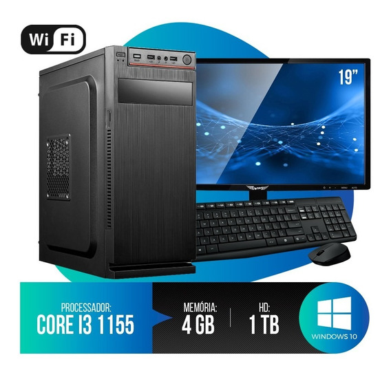 Pc Completo Intel Core I3, 4gb Ram, Hd 1tb, Monitor 18,5 Led