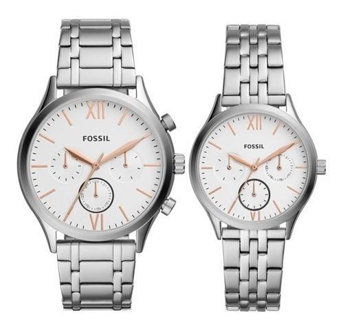 Reloj Fossil Original Para Pareja Extensible Bq2468 Set