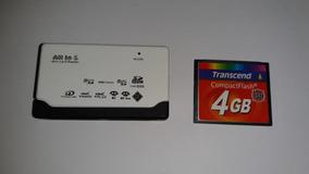 Cartão Memória Compact Flash 4gb Transcend