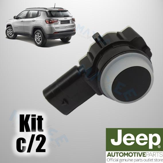 Kit Com 2 Sensor De Ré Estacionamento Jeep Compass Renegade