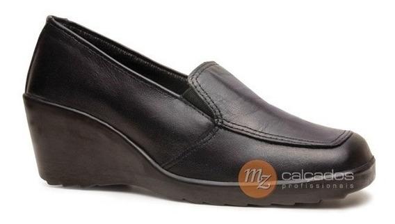 Sapato Feminino Salto Anabela Fujiwara Hfe Epi Com Ca 29564