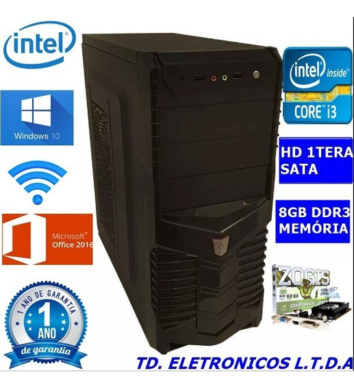 Cpu Gamer Core I3 3g/8gb Ddr3 /hd 1000gb /wifi/1gb Video
