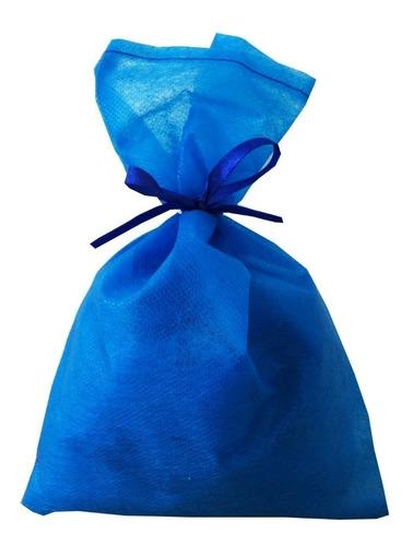 Imagem 1 de 1 de 30 Saquinhos Sacolinhas Tnt 15x23 Azul Royal Fita De Cetim