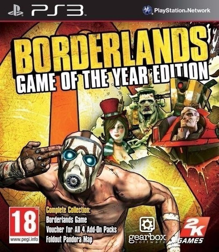 Borderlands 1 Goty + Dlc ~ Ps3 Digital Español