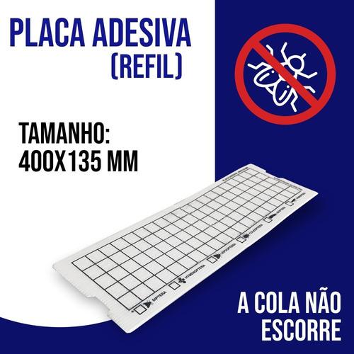 10 Placas Adesiva Armadilha Pega Mosca Mosquito 400x135m+ Nf