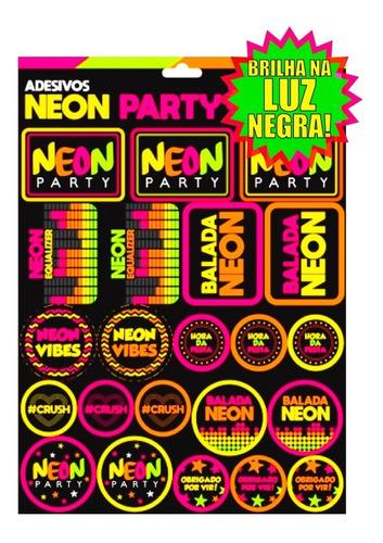 Adesivos Festa Neon