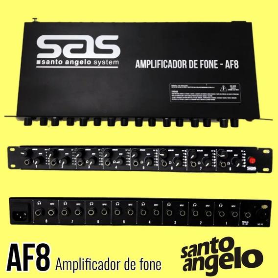 Amplificador Para 8 Fones De Ouvido Santo Angelo Af8