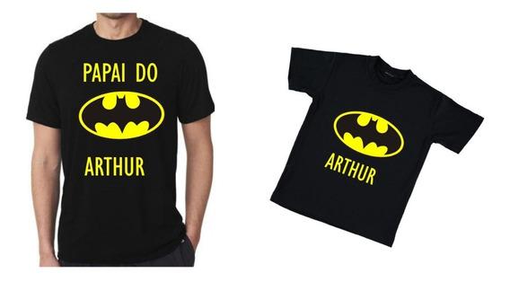 Kit 5 Camisas Batman Personalizada Para Aniversario